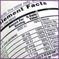 supplement nutritional label