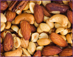 mixed nuts containing magnesium