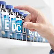 hand reaching for supplements