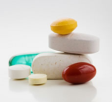 assorted supplement tablets and pills