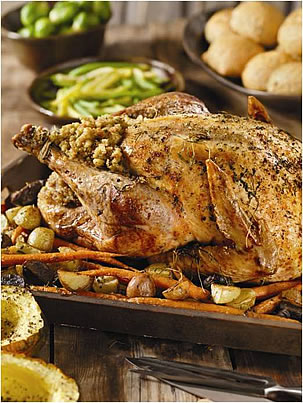 turkey with roasted vegetables
