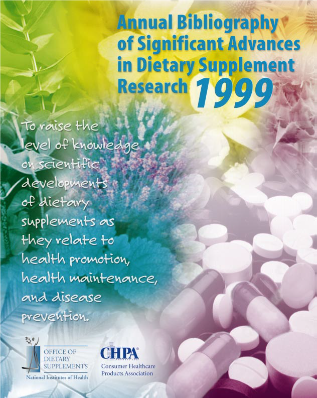 Annual Bibliography of Significant Advances in Dietary Supplement Research cover
