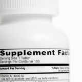 Supplement Facts on the back of a bottle