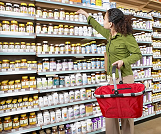 shelves of dietary supplements