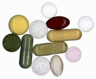 Variety of supplement pills